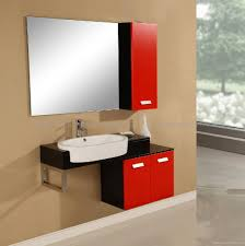 Red Bathroom Cabinets Bathroom Ideas Bathroom Furniture With Large Square Mirror And