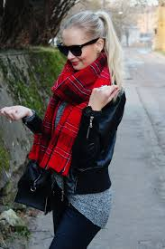 call me maddie how to style tartan scarf