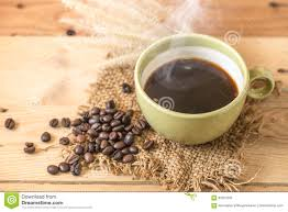 americano aroma black coffee or americano and arabica coffee bean stock
