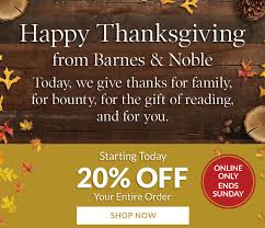 barnes noble happy thanksgiving from barnes noble milled