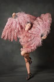 burlesque fans burlesque dancer with feather fans stock photo image of
