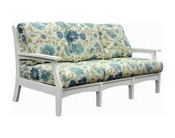 Sunbrella Indoor Sofa by Poly Lumber Classic Terrace Sofa W Sunbrella Cushions