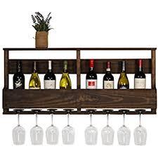 amazon com wall mounted metal wine rack 4 long stem glass holder