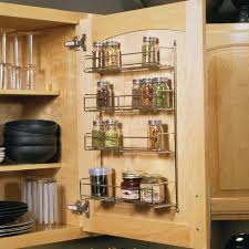 Inside Kitchen Cabinet Door Storage Knape U0026 Vogt 20 In X 10 81 In X 3 88 In Door Mounted Spice Rack