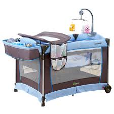 coolbaby crib folding multifunctional game bed baby portable