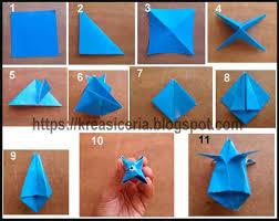 cara membuat bunga dari lipatan kertas cara mudah membuat origami bunga tulip kreasi ceria