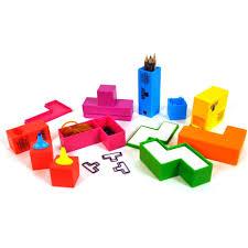 n馗essaire de bureau set de bureau tetris 7 pièces manatori