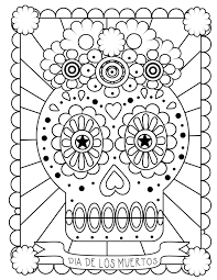 dead flower coloring page appealing printable day of the dead coloring pages best pic mexican