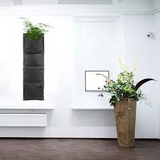 4 pockets vertical gargen flower pots planters wall mounted living