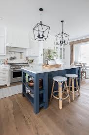 blue kitchen island cabinets navy island white kitchen the lilypad cottage