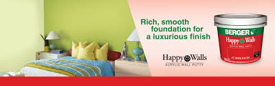happy water based wall acrylic putty from berger paints