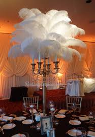 Ostrich Feathers For Centerpieces by Ostrich Feather Candelabra Wedding Centerpieces Rent A Centerpiece