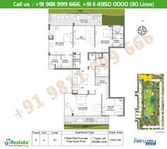 floor plan m3m golf estate