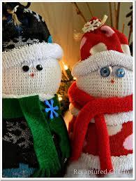 recaptured charm sock snowman santa