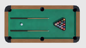 3d Asset Pool Table Game Ready Cgtrader