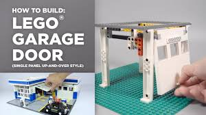 lego garage door tutorial how to youtube
