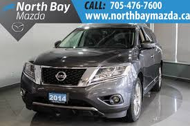 grey nissan pathfinder pre owned 2014 nissan pathfinder platinum leather interior