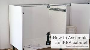 ikea sektion kitchen cabinets how to assemble an ikea sektion base cabinet youtube
