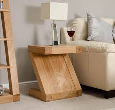 Lamp Tables Z Shape Solid Oak Lamp Table Oak Furniture Uk