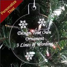 large personalized family names christmas ornament custom 1 4