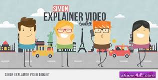 videohive simon explainer video toolkit free after effects