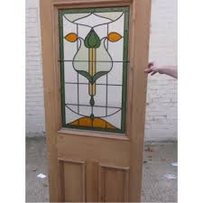 stained glass designs for doors furniture engaging image of single arch mahogany wood glass panel
