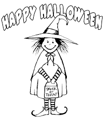 witch costume happy halloween coloring pages printable free