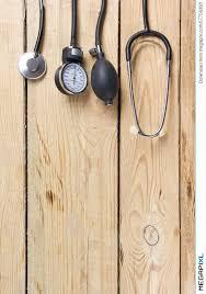 Wooden Desk Background Medical Stethoscope On Wooden Desk Background Workplace Of A