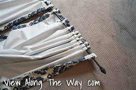 How To Make Curtains Hang Straight Tutorial How To Update Out Dated Tab Top Curtains