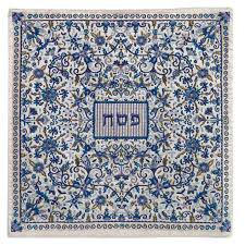 passover matzah cover passover matzah covers blue embroidered matzah cover