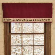 Red Scarf Valance Country Holiday Décor U2013 Christmas Star Mantle Scarf Valance