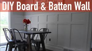 Wainscoting Spacing How To Install A Board And Batten Wall Youtube