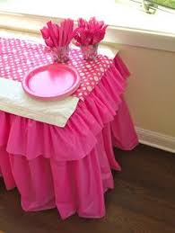 party table covers cheap easy party table ruffle plastic tablecloth birthdays