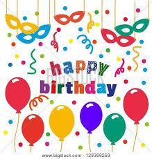 happy birthday card balloons vector u0026 photo bigstock
