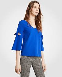 blouses with bows at neck 3 4 sleeve blouses tops for