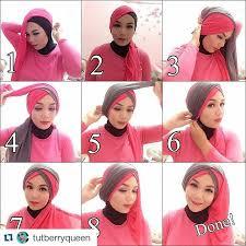 tutorial jilbab dua jilbab hijab pashmina elegan hijab style 6