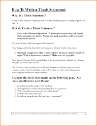 Example Of Thesis Statement For Argumentative Essay What Is A Thesis Of An Essay
