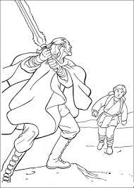 Coloriage  QuiGon Jinn et le jeune Anakin Skywalker  Coloriages à