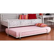 metal daybed with trundle white walmart com