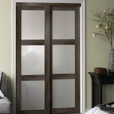 Sliding Wooden Closet Doors Sliding Closet Doors Bedroom Wayfair