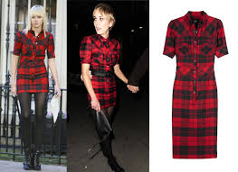 taylor momsen kimberly stewart plaid tartan shirt dress d u0026g