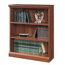 Staples Office Furniture Bookcases Sauder Premier 36 U0027 U0027 5 Shelf Bookcase Planked Cherry 1785 100