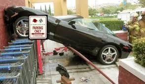 corvette car crash car crash corvette parking spot at wal mart gtspirit