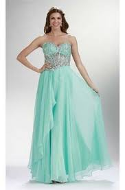 high slit open back long mint green chiffon flowing prom dress