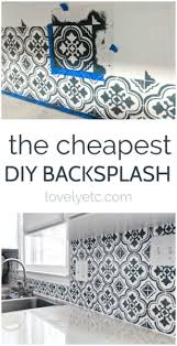 how to degrease backsplash the cheapest diy backsplash lovely etc