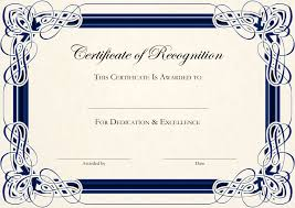 certificate template free word recommendation letter template