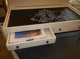 jigsaw puzzle tables portable jigsaw puzzle table with drawers portable jigsaw game table designs