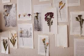 Drying Flowers In Books - sincerely kinsey floral wall art diy