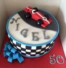 racing car cake red 50th birthday sugarpaste bow holly u0027s cakes
