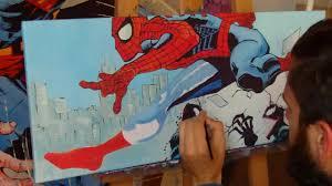 roberts artwork spiderman venom pop art